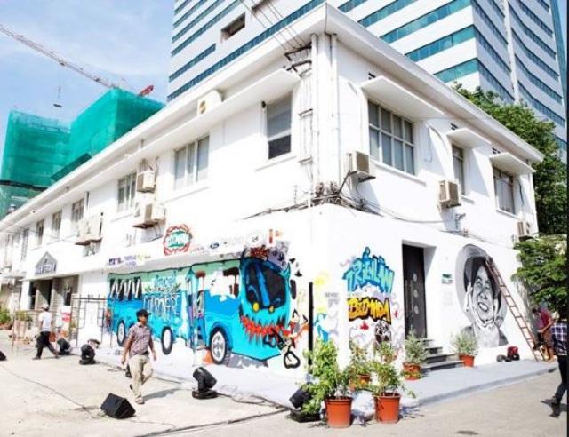 Những bức tường Graffic tại Nhà ga 3A. Ảnh: Internet