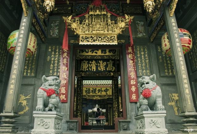 Chùa theo kiến trúc Trung Hoa ở quận 5. Ảnh: Internet