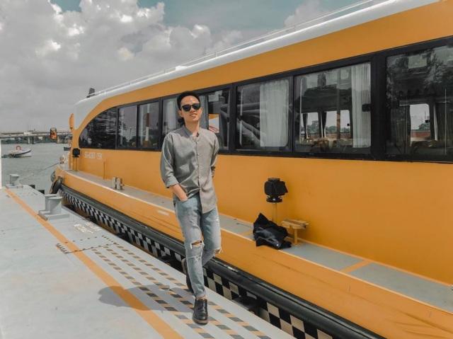 Bus đường thuỷ có màu vàng nổi bật. Ảnh: Internet