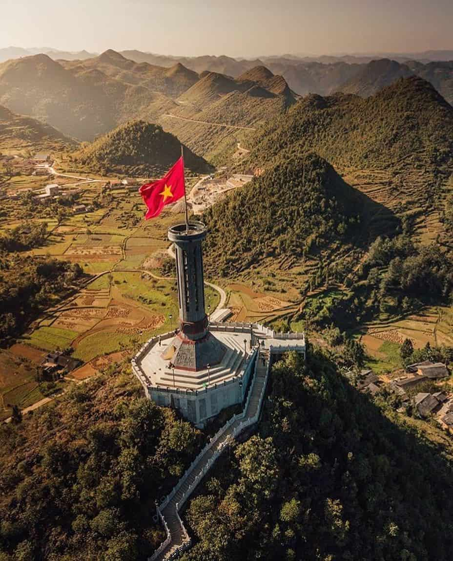 Cột cờ Lũng Cú. Hình: @vietnamtravelers