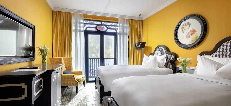 Phòng Classic Hai Giường Đơn có kiến trúc và tiện nghi cao cấp như hạng phòng Classic Đôi