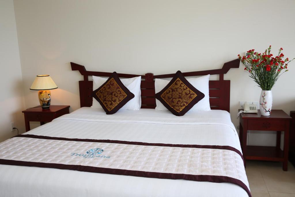 Phòng được bày trí khá đơn giản nhưng rất tinh tế, đầy đủ tiện ích