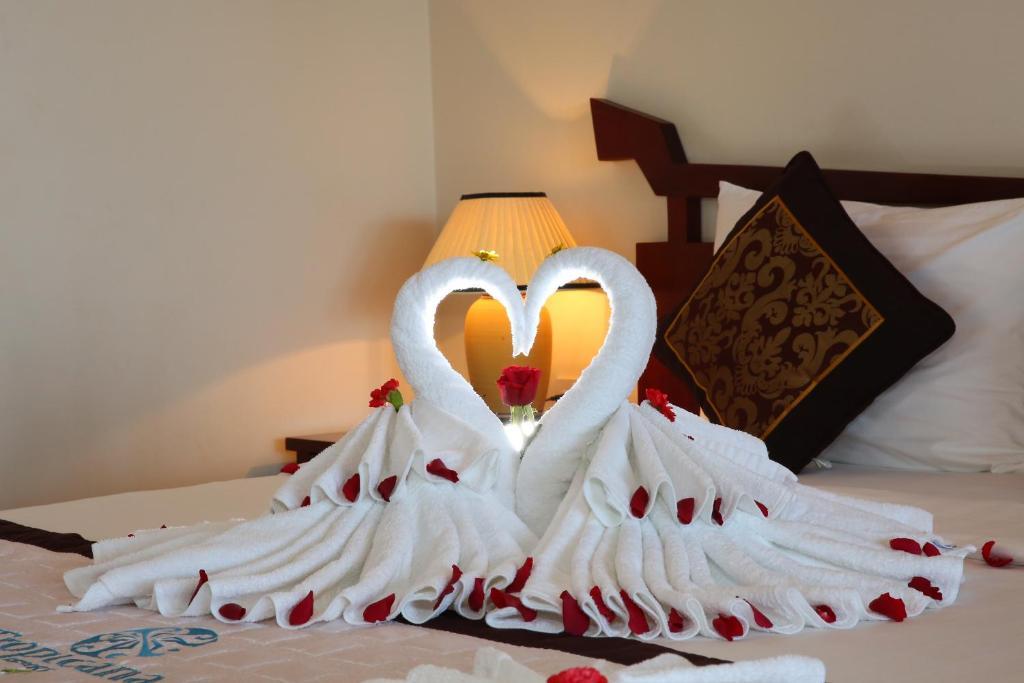Phòng nghỉ thích hợp cho những cặp đôi vợ chồng hay người yêu bởi không gian lãng mạn