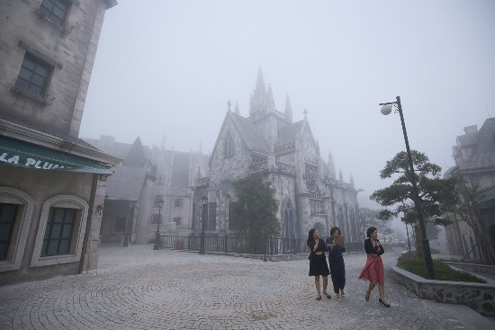 Ngỡ như lạc sang trời Âu lãng mạn ở Bà Nà ngày đông về - Nguồn ảnh: Internet