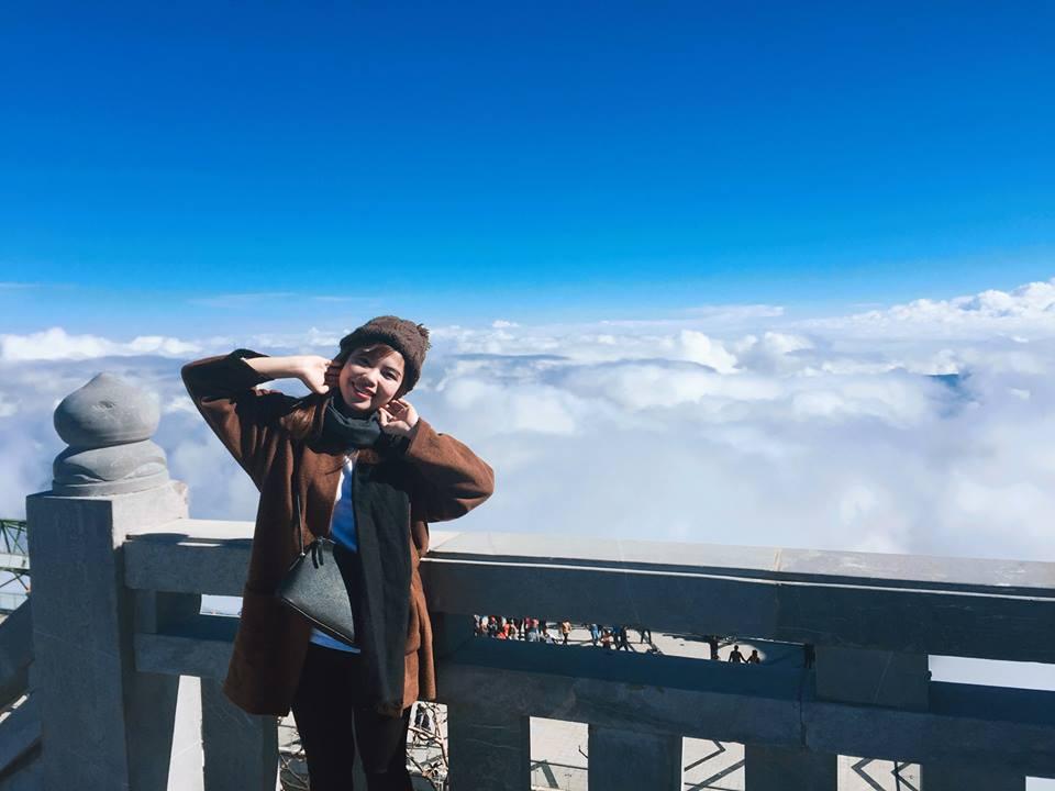 Những tầng mây trên đỉnh Fansipan. Hình: Sưu tầm