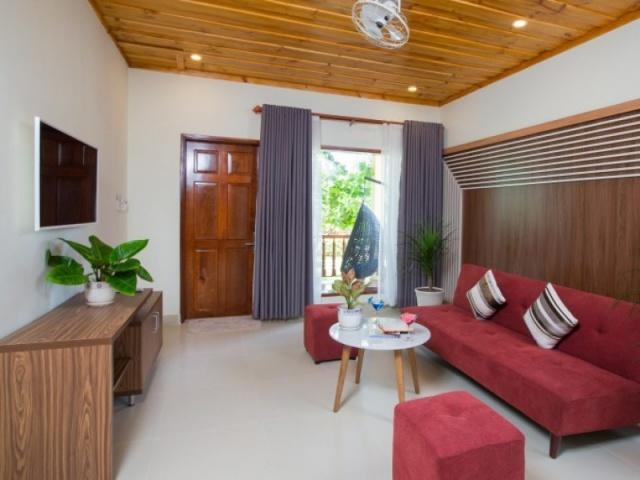 Khu vực phòng khách của Tropic Villa. Ảnh: Internet