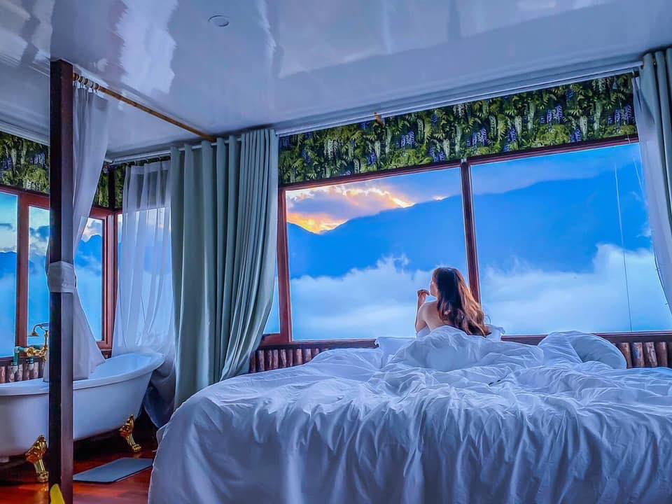 Phòng ngủ săn mây ở Secret Garden. Hình: Sưu tầm