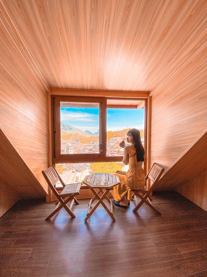 Phòng gác mái với view thành phố. Hình: Sưu tầm