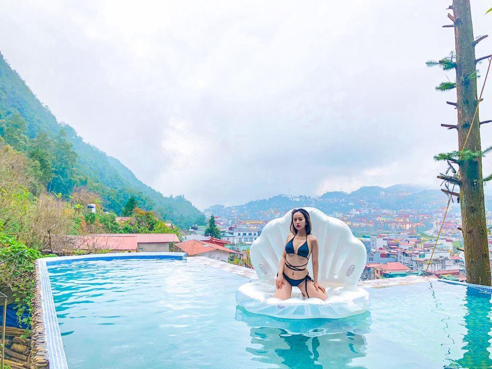 Bể bơi tại Vườn Mây Homestay. Hình: Sưu tầm