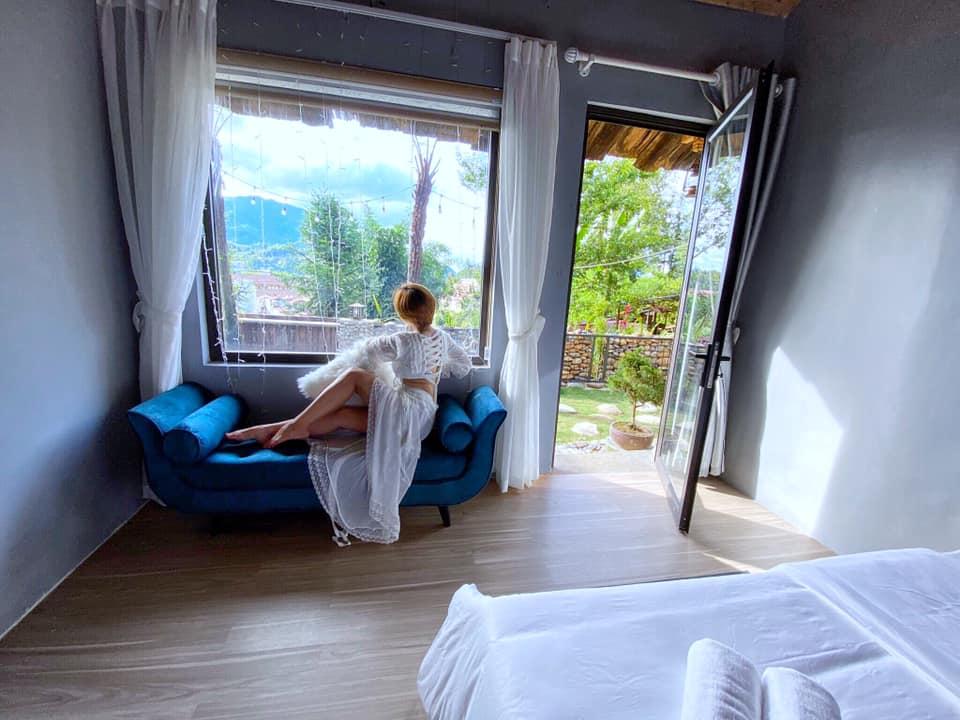 Phòng nghỉ tại Vườn Mây Homestay. Hình: Sưu tầm