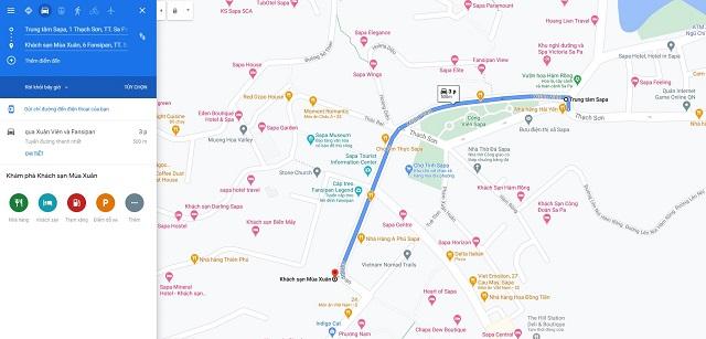 Chỉ đường từ trung tâm Sapa đến khách sạn Mùa Xuân