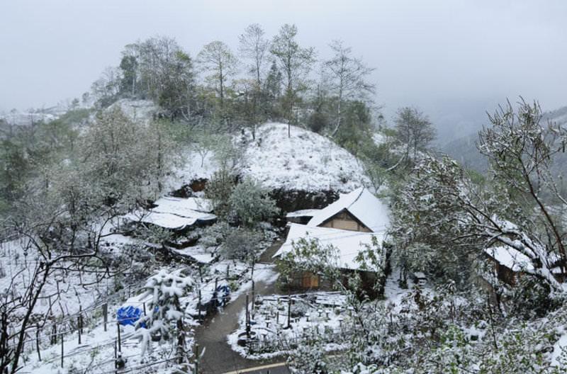 Ngỡ ngàng vẻ đẹp mùa đông ở Sapa - Nguồn ảnh: Internet
