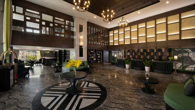 Không gian bên trong Pistachio Hotel Sapa với gam màu trầm thu hút