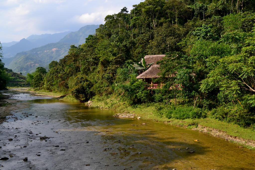 Ecolodge Pan House Village có không gian thiên nhiên thơ mộng