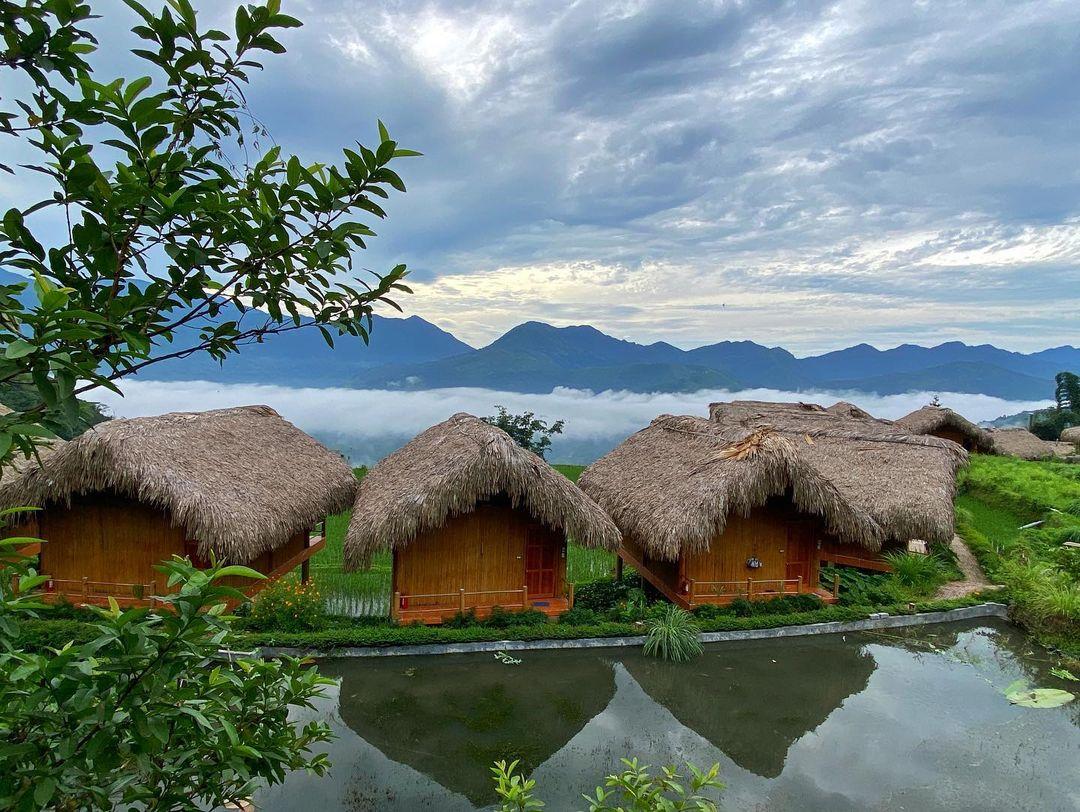 Các căn Bungalow ở Hoang Su Phi Lodge. Hình: @thiennguyen1012