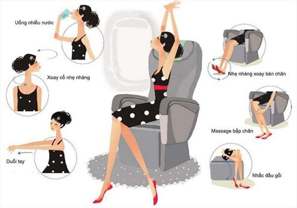 Những động tác đơn giản nhưng hiệu quả mà bà bầu có thể áp dụng khi ngồi một chỗ trên máy bay