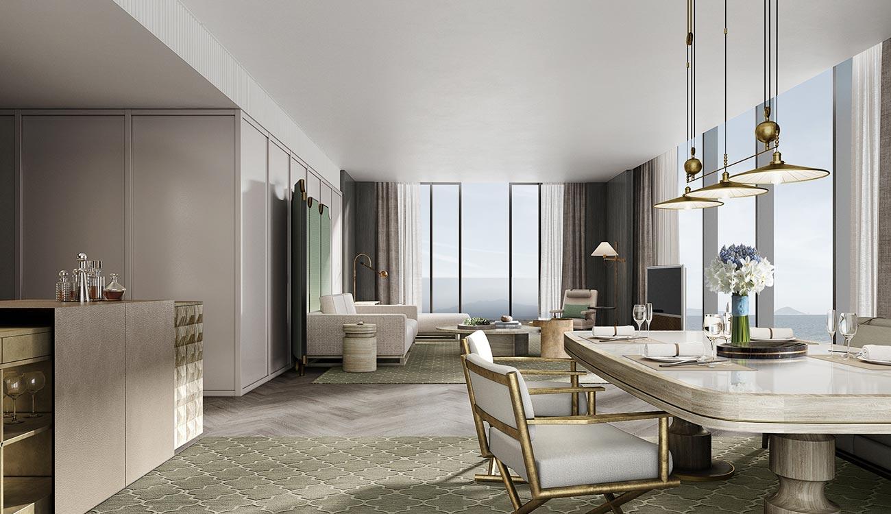 Màu sắc của tổng thể nội thất trong phòng đem đến cảm giác ấm cúng