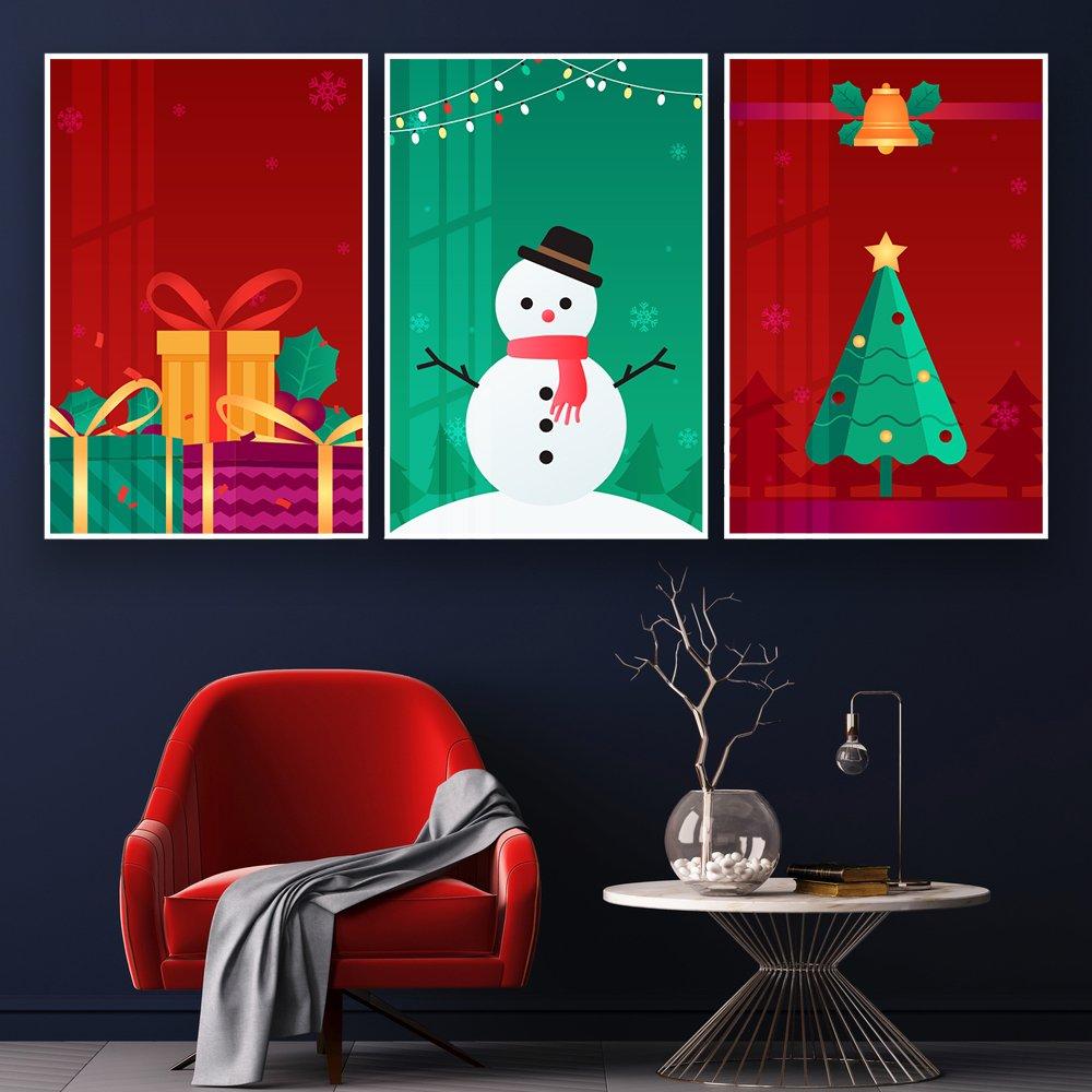 Các bức tranh với màu sắc và hình ảnh bắt mắt