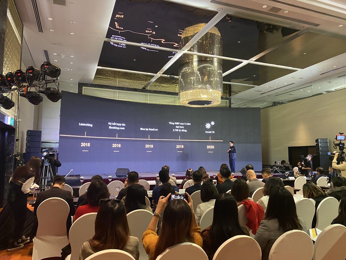 CEO Vntrip Lê Đắc Lâm phát biểu tại sự kiện