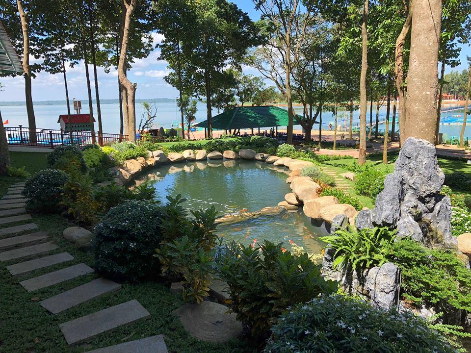 Đảo Ó Đồng Nai với không gian xanh vô cùng thư thái - Nguồn ảnh: Internet