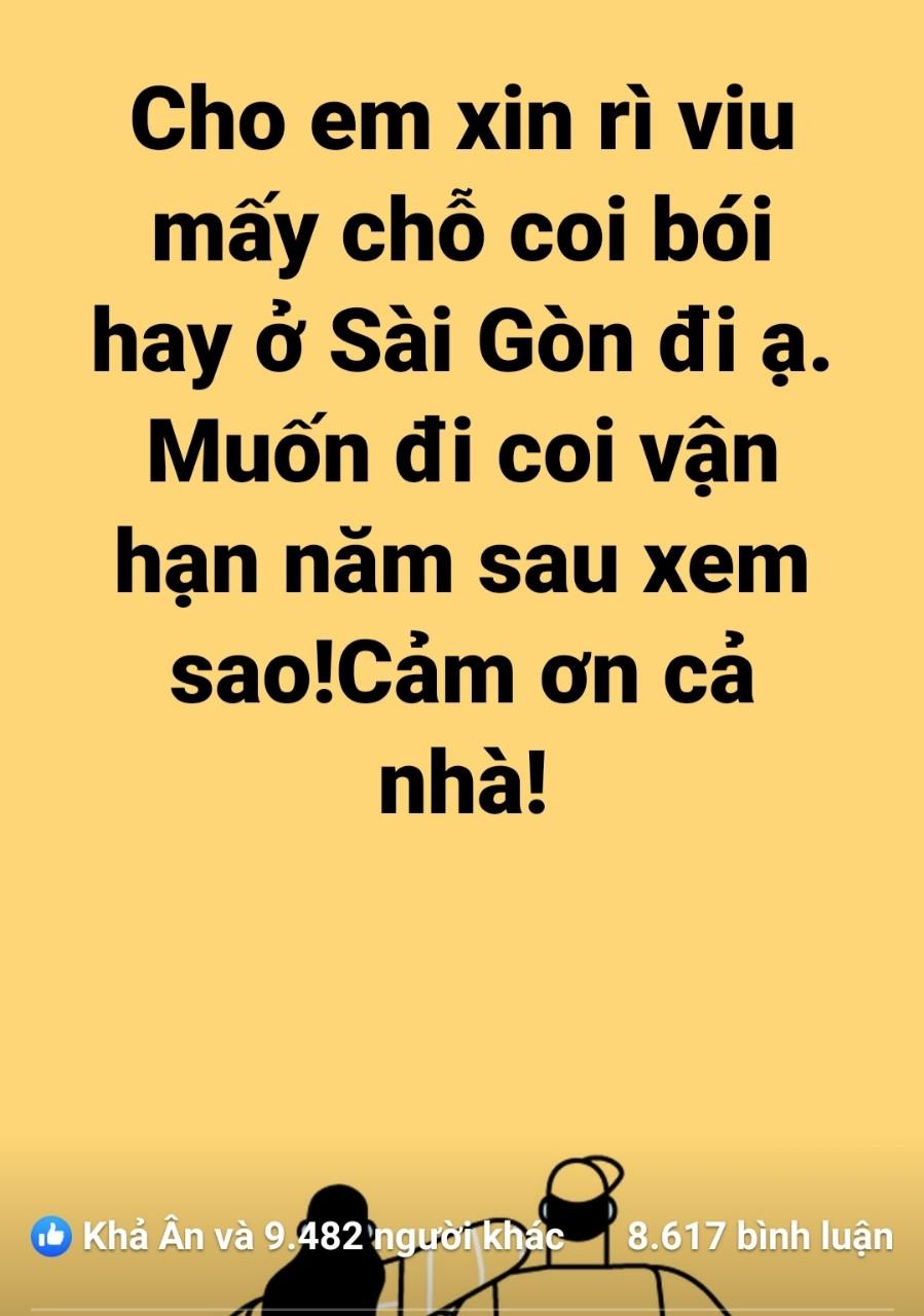 List địa chỉ xem bói hay, uy tín ở Sài Gòn