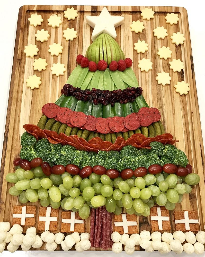 Món ăn trông vô cùng bắt mắt theo chủ đề Noel