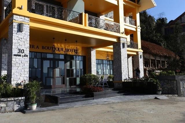 Bên ngoài khách sạn Aira Boutique Sapa Hotel & Spa