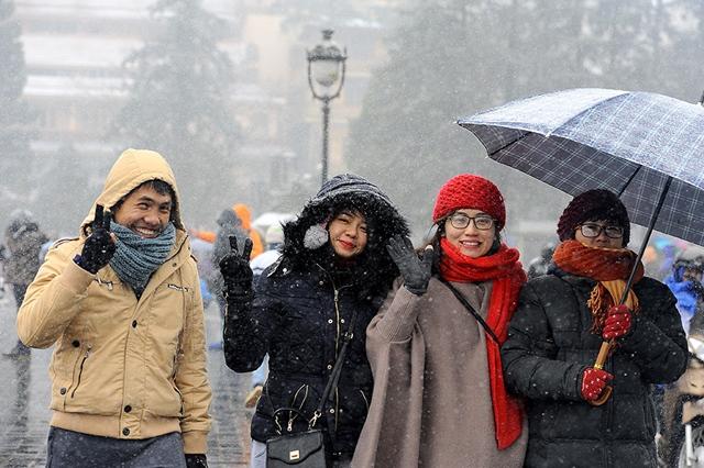 Mùa đông ở Sapa và các tỉnh vùng miền núi phía Bắc có thể có tuyết. Ảnh: Internet