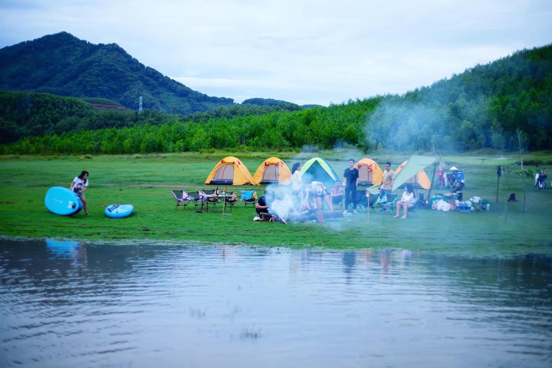 Trải nghiệm cắm trại. Hình: Hoàn Nguyễn