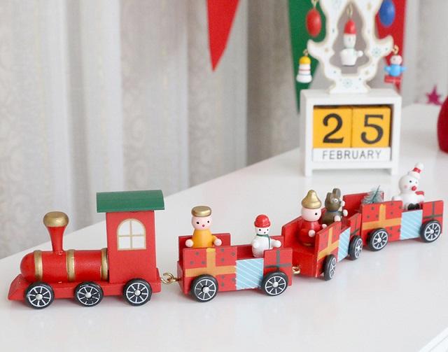 Bộ đồ chơi tàu hỏa giáng sinh cho con trai