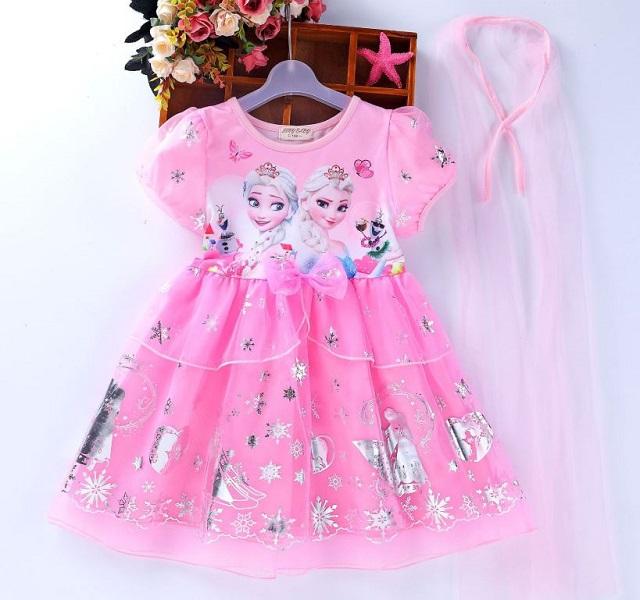Váy hình búp bê Barbie hay công chúa Elsa khiến các bé gái thích mê