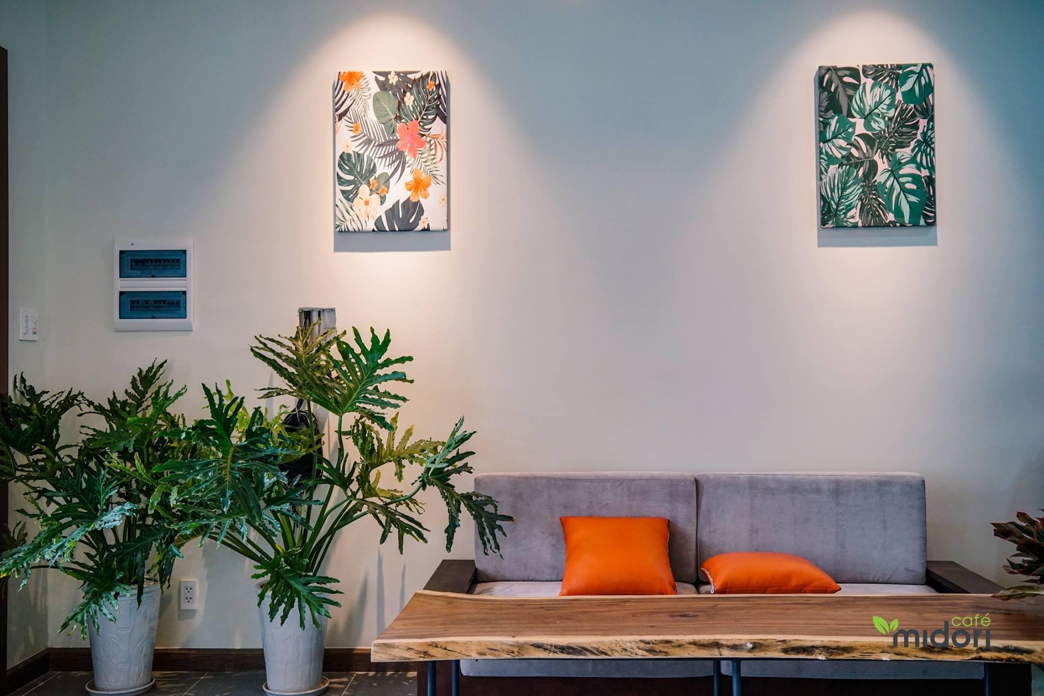 Quán được thiết kế đơn giản nhưng cũng là một nơi check-in siêu xịn. Hình: Midori Cafe