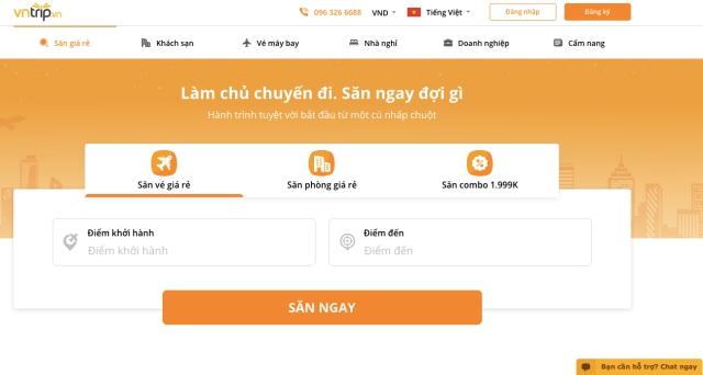 Đặt vé máy bay Tết 2021 Vietnam Airlines nhanh chóng thông qua Vntrip. Ảnh: Internet