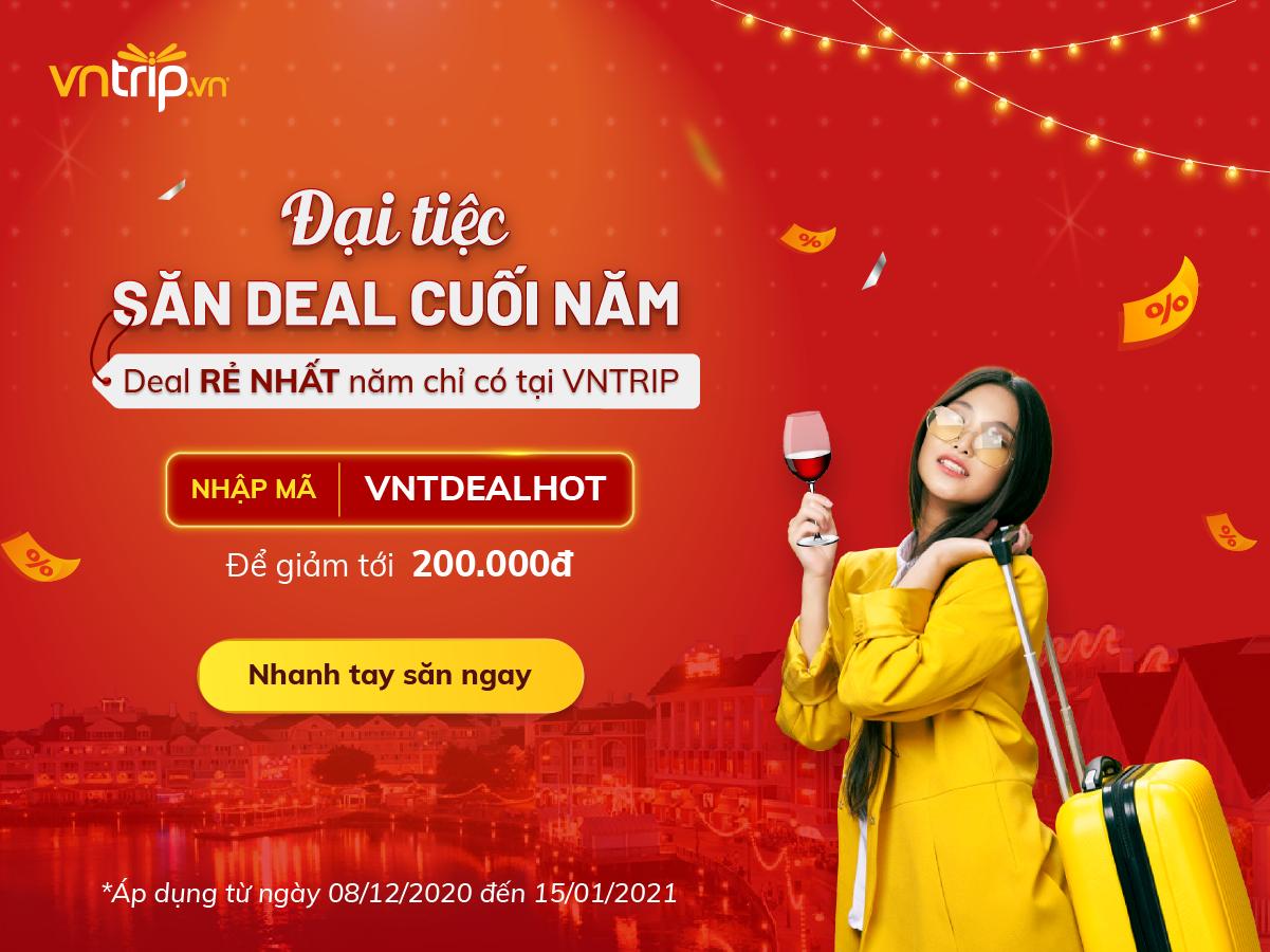 Săn Deal giảm giá khách sạn cuối năm rẻ nhất tại Vntrip>