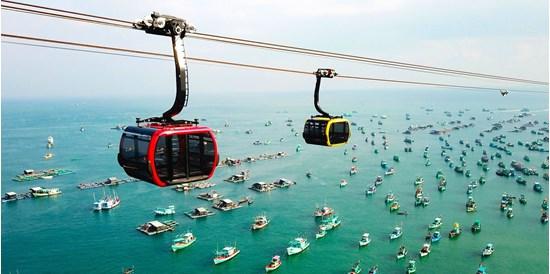 Cáp treo hòn Thơm xuyên biển - Nguồn ảnh: Internet