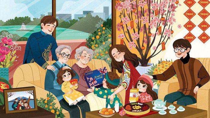 Đầu năm là dịp gửi gắm tình cảm qua những câu chúc tốt đẹp dành cho gia đình - Nguồn ảnh: Internet