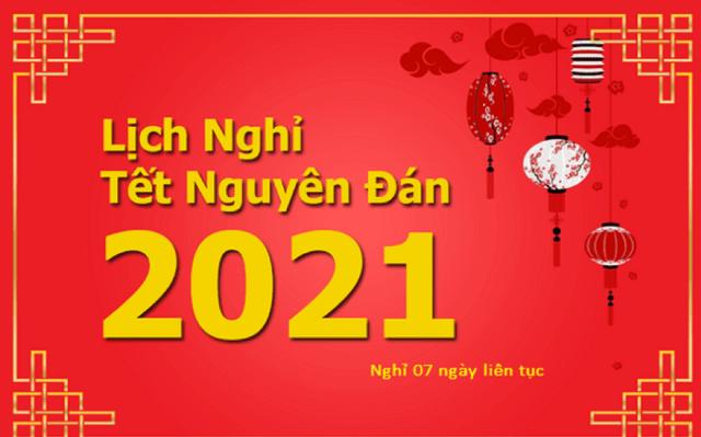 Lịch Nghỉ Tết Tân Sửu 2021. Ảnh: Internet