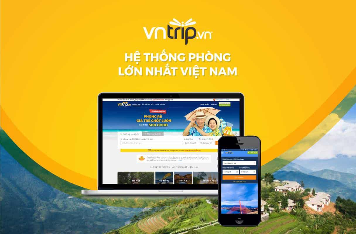 Vntrip - trang web và app đặt phòng khách sạn giá rẻ