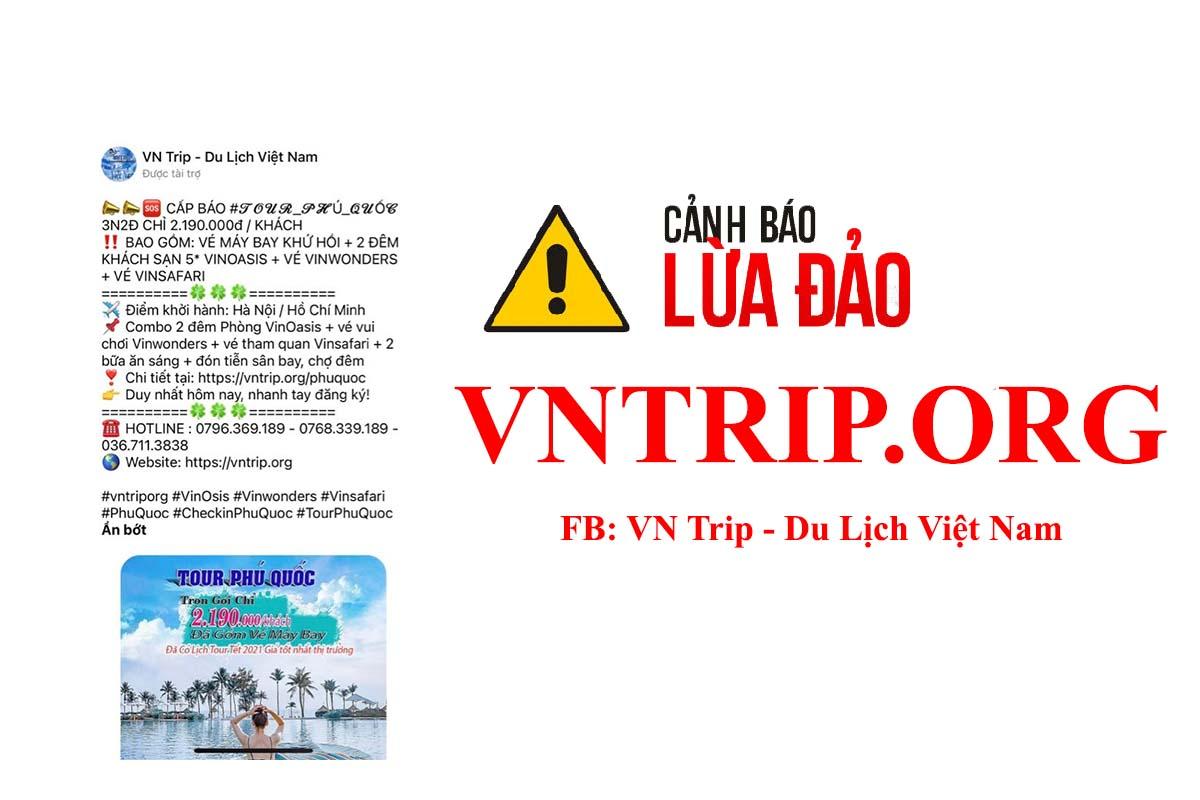 vntrip.org lừa đảo, mạo danh vntrip lừa đảo