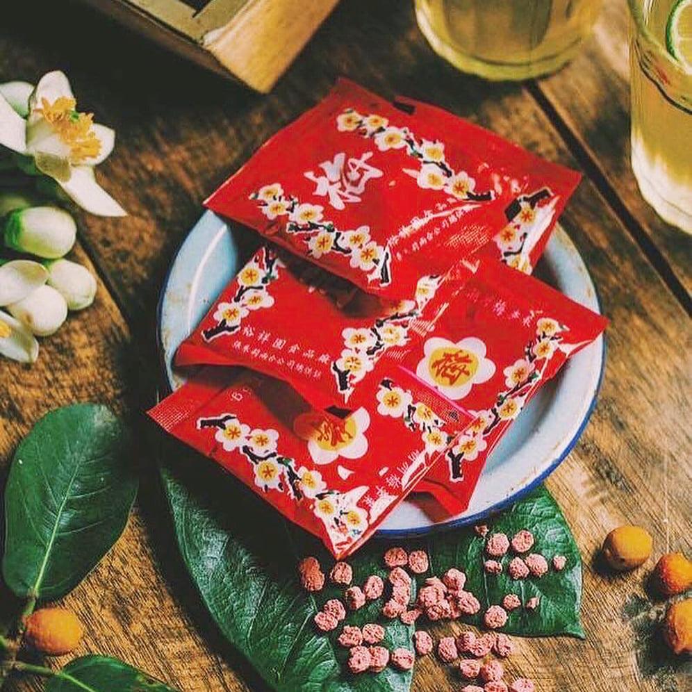 Ô mai hoa đào - thức quà mang hương vị Tết xưa. Hình: Sưu tầm