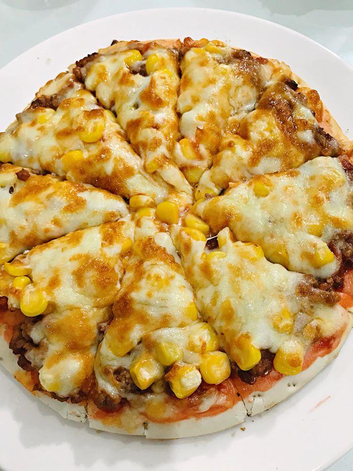 Bánh pizza sau khi thành phẩm nhìn rất hấp dẫn. Hình: Sưu tầm