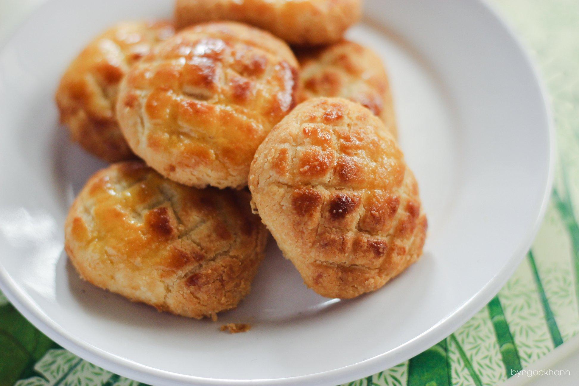 Bánh dứa thành phẩm rất thơm ngon. Hình: Sưu tầm