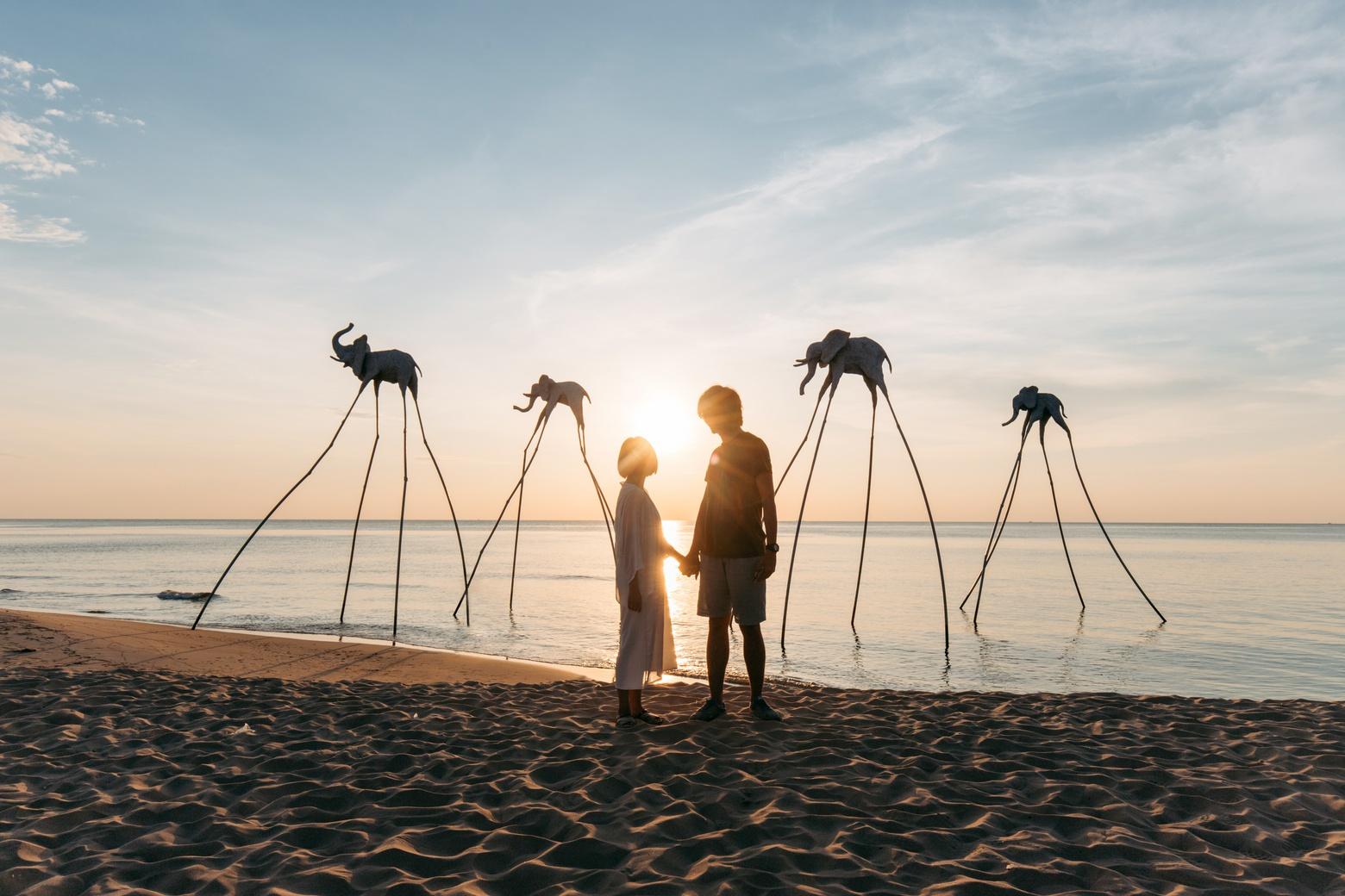 Hoàng hôn lãng mạn ở Phú Quốc. Hình: Sưu tầm