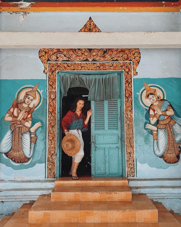 Những bức tường độc đáo của chùa Dơi. Hình: @lehatruc