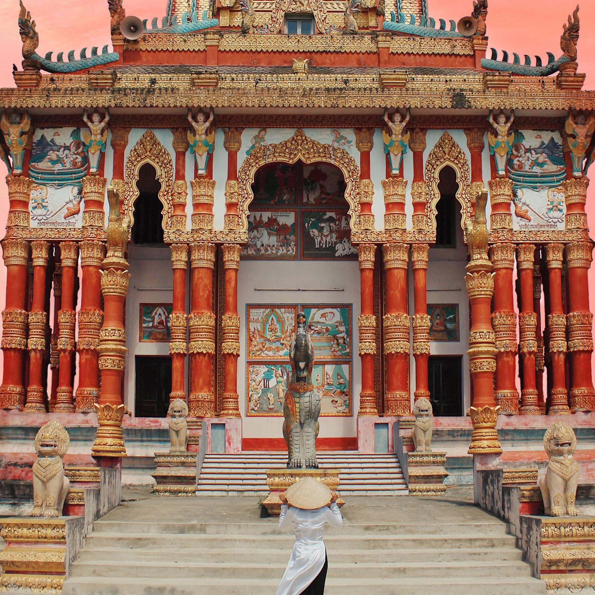 Cấu trúc độc đáo của chùa. Hình: Nguyễn Hoàn Hảo