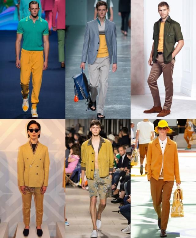 Nam giới cũng có rất nhiều gợi ý trang phục màu vàng cho dịp Tết. Ảnh: Internet