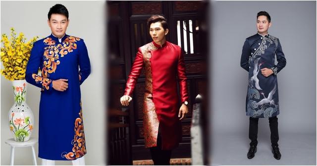 Các chàng cũng có thể thể hiện sự lịch lãm trong thiết kế áo dài cách tân. Ảnh: Internet
