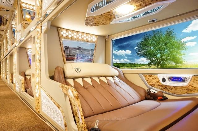 Giường đôi sang trọng, hiện đại trên xe Thành Bưởi đi Đà Lạt. Ảnh: Internet