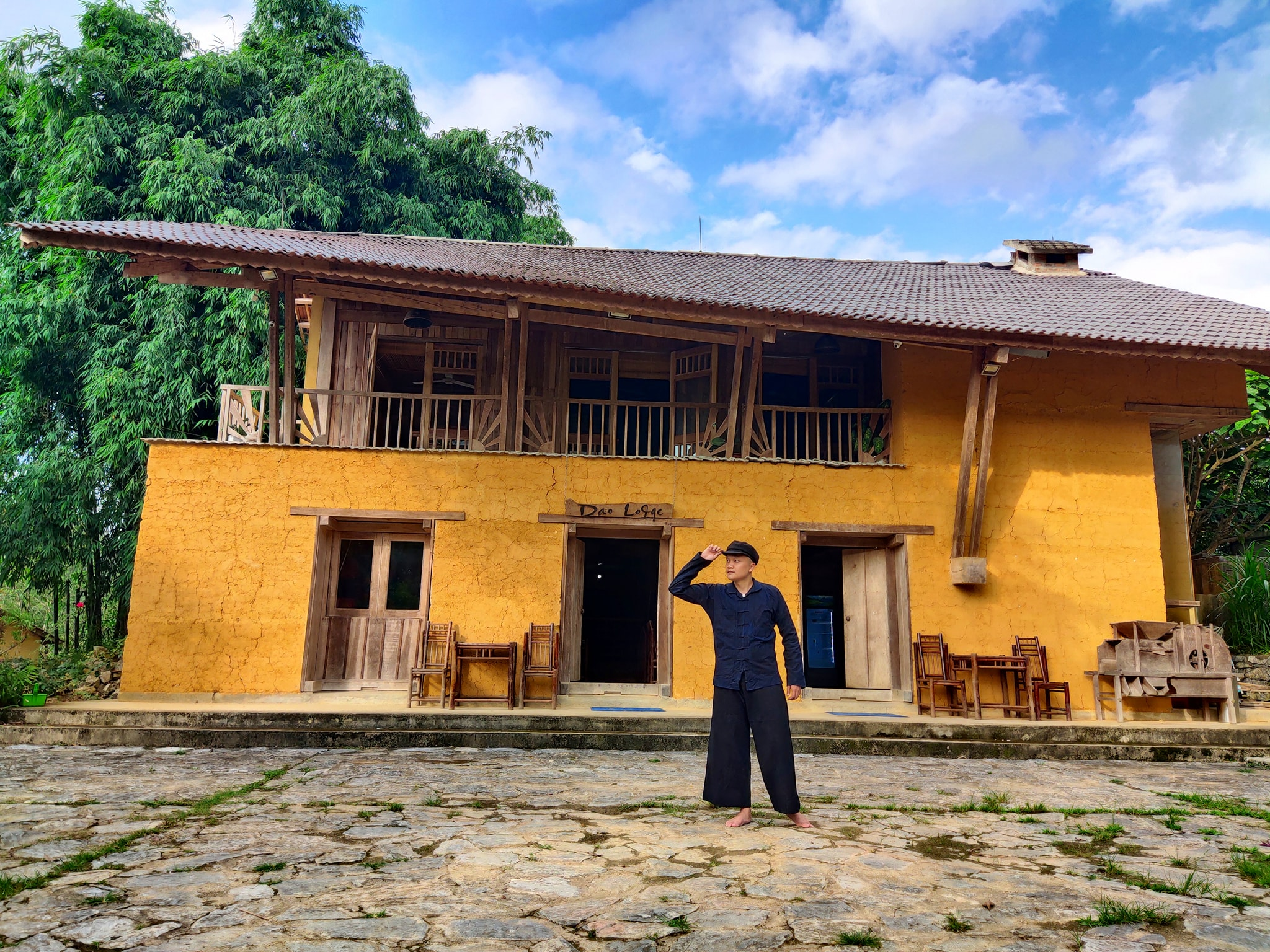 Những ngôi nhà trình tường độc đáo ở Nậm Đăm. Hình: Tuan Dao Manh