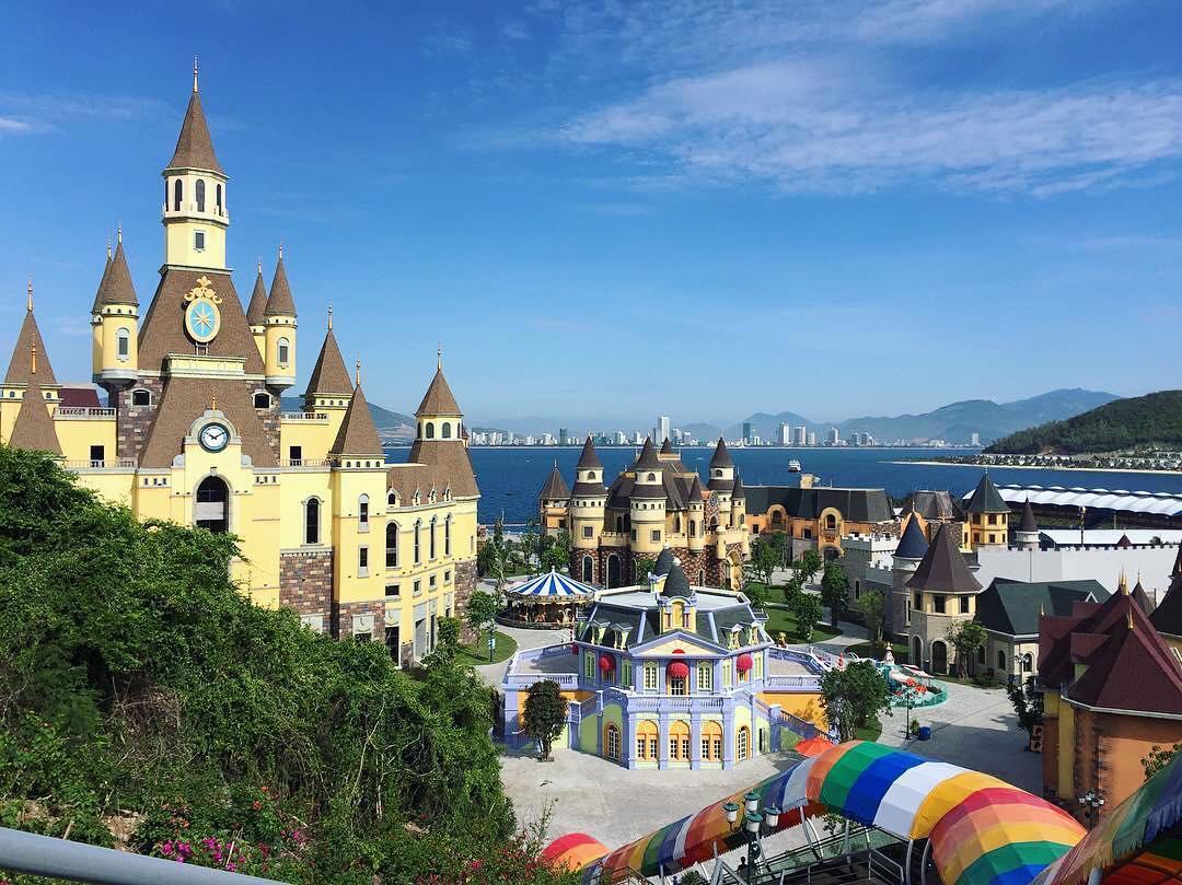 Phong cảnh tuyệt đẹp tại khu du lịch Vinpearl Land Nha Trang